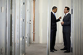 United States President Barack Obama talks with California Governor Arnold Schwarzenegger during a tour of Solyndra, Inc., in Fremont, California, Wednesday, May 26, 2010..Mandatory Credit: Pete Souza - White House via CNP
