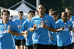 Inter Milan's Marco Materazzi leads training