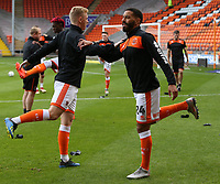 Blackpool's Liam Feeney during the pre-match warm-up <br /> <br /> Photographer Stephen White/CameraSport<br /> <br /> The EFL Sky Bet League One - Blackpool v Rochdale - Saturday 6th October 2018 - Bloomfield Road - Blackpool<br /> <br /> World Copyright &copy; 2018 CameraSport. All rights reserved. 43 Linden Ave. Countesthorpe. Leicester. England. LE8 5PG - Tel: +44 (0) 116 277 4147 - admin@camerasport.com - www.camerasport.com