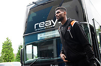 Blackpool's Michael Nottingham gets off the team bus after arriving at the ground<br /> <br /> Photographer Chris Vaughan/CameraSport<br /> <br /> The EFL Sky Bet League One - Coventry City v Blackpool - Saturday 7th September 2019 - St Andrew's - Birmingham<br /> <br /> World Copyright © 2019 CameraSport. All rights reserved. 43 Linden Ave. Countesthorpe. Leicester. England. LE8 5PG - Tel: +44 (0) 116 277 4147 - admin@camerasport.com - www.camerasport.com