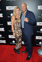 LOS ANGELES, CA. August 22, 2016: Actress Mindy Robinson &amp; boyfriend actor Randy Couture at the Los Angeles premiere of &quot;Mechanic: Resurrection&quot; at the Arclight Theatre, Hollywood.<br /> Picture: Paul Smith / Featureflash
