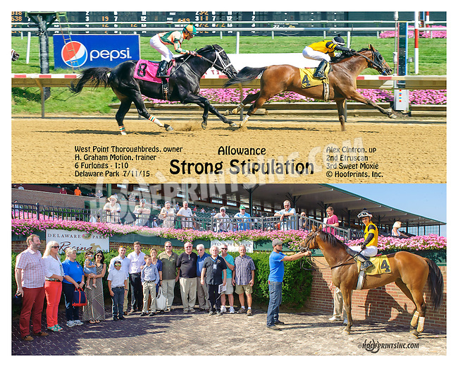 Strong Stipulation winning at Delaware Park on 7/11/15