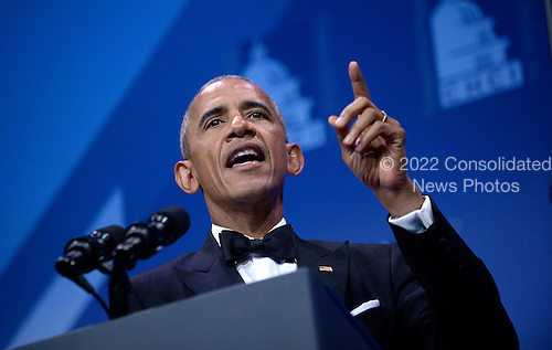 United States President Barack Obama speaks at the 39th Annual Congressional Hispanic Caucus Institute Public Policy Conference and Annual Awards Gala at the Walter E. Washington Convention Center, September 15 2016, in Washington, DC. <br /> Credit: Olivier Douliery / Pool via CNP