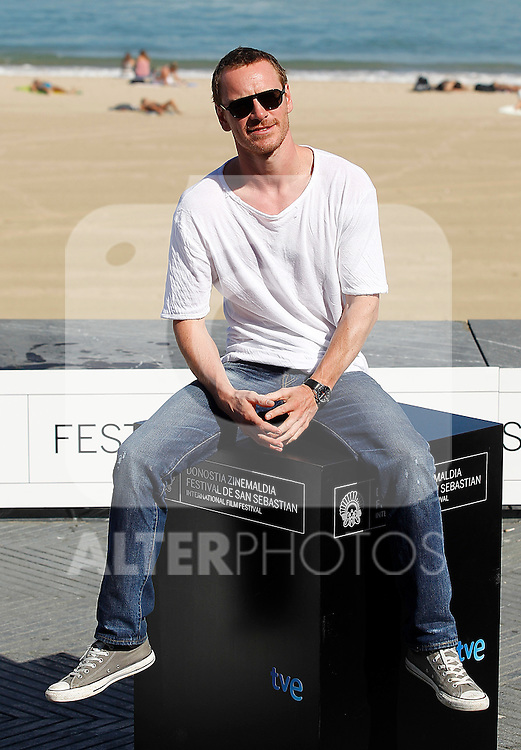 the actor Michael Fassbender during the 59th San Sebastian Donostia International Film Festival - Zinemaldia.September 21,2011.(ALTERPHOTOS/ALFAQUI/Acero)