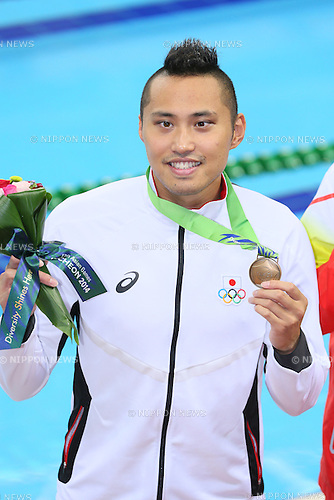 Shinri Shioura (JPN), <br /> SEPTEMBER 25, 2014 - Swimming : <br /> Men's 100m Freestyle Final <br /> at Munhak Park Tae-hwan Aquatics Center <br /> during the 2014 Incheon Asian Games in Incheon, South Korea. <br /> (Photo by YUTAKA/AFLO SPORT)