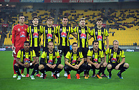The Phoenix starting XI for the A-League football match between Wellington Phoenix and Western Sydney Wanderers at Westpac Stadium in Wellington, New Zealand on Saturday, 3 November 2018. Photo: Dave Lintott / lintottphoto.co.nz
