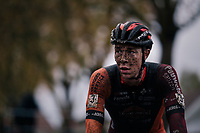 Laurens Sweeck (BEL/Pauwels Sauzen Vastgoedservice) post-finish<br /> <br /> men's race<br /> Soudal Jaarmarktcross Niel 2018 (BEL)
