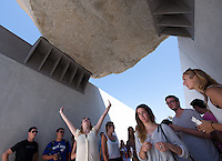 Incoming Occidental College students participate in Oxy Engage as they tour the Los Angeles County Museum of Art (LACMA) on August 22, 2013. (Photo by Marc Campos, Occidental College Photographer)