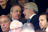 Real Madrid's President Florentino Perez (l) and Atletico de Madrid's President Enrique Cerezo during La Liga match. April 8,2018. (ALTERPHOTOS/Acero) NortePhoto.com