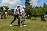 Jon Rahm (ESP) and Wesley Bryan (USA) head to 2 during Round 2 of the Zurich Classic of New Orl, TPC Louisiana, Avondale, Louisiana, USA. 4/27/2018.<br /> Picture: Golffile | Ken Murray<br /> <br /> <br /> All photo usage must carry mandatory copyright credit (&copy; Golffile | Ken Murray)