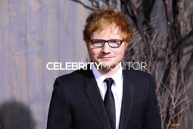 "HOLLYWOOD, CA - DECEMBER 02: Ed Sheeran arriving at the Los Angeles Premiere Of Warner Bros' ""The Hobbit: The Desolation Of Smaug"" held at Dolby Theatre on December 2, 2013 in Hollywood, California. (Photo by Xavier Collin/Celebrity Monitor)"