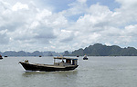 Halong-Vietnam, Ha Long - Viet Nam - 22 July 2005---Boats in the Halong Bay, a UNESCO World Natural Heritage Site---tourism, traffic, transport---Photo: Horst Wagner/eup-images