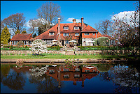 BNPS.co.uk (01202 558833)<br /> Pic: Savills/BNPS<br /> <br /> For sale...The perfect English timber house...according to architectural guru Nikolaus Pevsner no less.<br /> <br /> A gorgeous 600-year-old timber framed country pile described by architecture guru Nikolaus Pevsner as &quot;the perfect house&quot; has gone on the market for 2.25 million pounds.<br /> <br /> Set in five acres of rolling countryside, Stonehill House is so idyllic it has been home to artists, musicians and writers including Peter Pan author J.M. Barrie and rock star Keith Emerson.<br /> <br /> The plush five-bedroom property in Sussex, which boasts an adjoining cottage and barn, was lauded in Pevsner's 1965 architecture bible Buildings of England.<br /> <br /> Within the 4,344 sq ft house's lavish grounds are a lake, a swimming pool, a tennis court, an orangery, a paddock and extensive landscaped gardens.<br /> <br /> Stonehill House was built in the 15th century as a giant hall, with rooms added during Tudor times.<br /> <br /> The oldest records relating to the house state it was home to a family of iron founders called the Elphicks, and that the once formed part of the vast Sackville estate.<br /> <br /> In more recent times it was home to Scottish author J.M. Barrie who moved in in 1921, around 15 years after he created his most famous character Peter Pan.<br /> <br /> Barrie lived there until 1934, three years before his death.<br /> <br /> The house, which is typical of historic Wealden architecture found in the south east of England, underwent renovation in 1912 and again in 1924.<br /> <br /> It belonged to Keith Emerson, keyboardist with prog rockers Emerson, Lake and Palmer in the 1970s and 1980s.