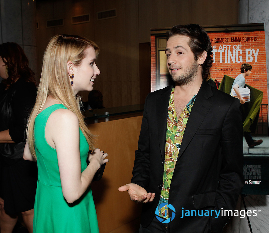 """BEVERLY HILLS, CA - JUNE 06:  Emma Roberts and Michael Angarano attend a Fox Searchlight screening Of """"The Art Of Getting By"""" at Clarity Theater on June 6, 2011 in Beverly Hills, California.  (Photo by Todd Williamson/WireImage)"""