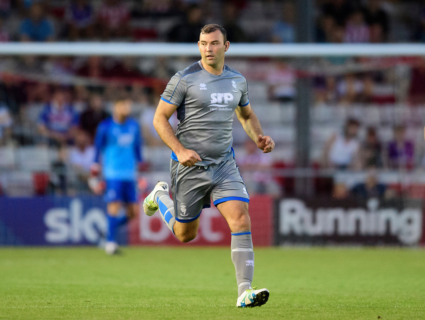 Lincoln City's Matt Rhead<br /> <br /> Photographer Chris Vaughan/CameraSport<br /> <br /> Football Pre-Season Friendly - Lincoln City v Stoke City - Wednesday July 24th 2019 - Sincil Bank - Lincoln<br /> <br /> World Copyright © 2019 CameraSport. All rights reserved. 43 Linden Ave. Countesthorpe. Leicester. England. LE8 5PG - Tel: +44 (0) 116 277 4147 - admin@camerasport.com - www.camerasport.com