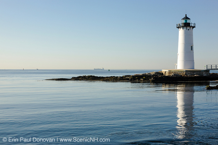 Portsmouth Harbor Light - This lighthouse is located on the grounds of Fort Constitution in New Castle, New Hampshire USA.