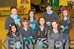 Pupils, parents and members of the local community have all come together to create a commemorative circle of lace to mark the 150th anniversary of the arrival of the Poor Clare Nuns to Kenmare. .Back L-R Lauren Frampton, Ellen Sweeney, Joanne McCarthy and Caoimhe Quinlan .Front L-R Aisling Bhamvra, Megan Desilva, Andrea Pavlovic and Niamh Crowley.