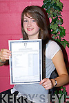 OUTSTANDING: Aine Hickey,.Rathmore, and a star student of.Scoil Phobail Sliabh Luachra,.Rathmore who did her school.proud by getting the maximum.600 points in her Leaving Certificate.on Wednesday