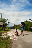 PHILIPPINES, Palawan, Batak, Tanabag River, drying coconut on the roadside between Puerto Princessa and Tanabag
