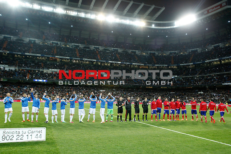 Real Madrid¬¥s  and Atletico de Madrid¬¥s during King¬¥s Cup (Copa del Rey) semifinal match in Santiago Bernabeu stadium in Madrid, Spain. February 05, 2014. Foto © nph / Victor Blanco)