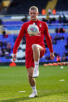 1st February 2020; St Andrews, Birmingham, Midlands, England; English Championship Football, Birmingham City versus Nottingham Forest; Joe Worrall of Nottingham Forest warms-up prior to the match