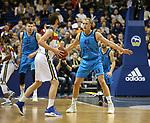 19.03.2019, Mercedes Benz Arena, Berlin, GER, EuroLeague/EuroCup, ALBA ERLIN vs.  MoraBanc Andorra, <br /> im Bild Luke Sikma (ALBA Berlin #43), John Shurna (Andorra #22)<br /> <br />      <br /> Foto © nordphoto / Engler
