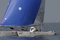 20th SPA Regatta - Medemblik.26-30 May 2004..Copyright free image for editorial use. Please credit Peter Bentley..Mitch Booth - NED