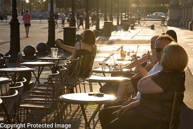 Marly Cafe Terrace, Louvre Art Museum, Paris, France