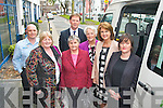 Minister Joan Burton at the launch of the Kerry Flyers Bus Service at the Brandon Hotel on Friday. From left: Robert Templeman (vehicle supervisor), Senator Marie Maloney, Nuala O'Connor, Ballymac, Arthur Spring T.D.,  Monica Prendiville, Castleisland, Minister Joan Burton and Nicola Lawless (Kerry Flyer Bus Service Manager).