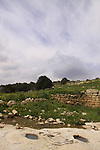 Israel, Upper Galilee, an ancient Olive press in Hurvat Beck on Mount Meron