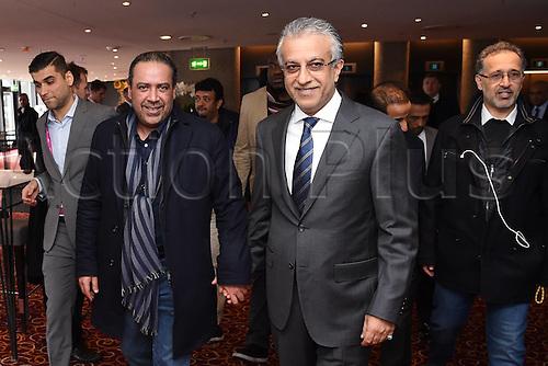 25.02.2016. Zurich, Switzerland. Fifa AFC Confederation luncheon at the Marriott hotel.  AFC President Scheich Salman Bin Ibrahim al-Khalifa (Bahrain) and Scheich Ahmad Al Fahad AL SABAH (Kuwait)
