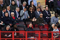 Former England Women's Manager, Mark Sampson, watched the match on his own from the stand (front row) during Charlton Athletic vs Scunthorpe United, Sky Bet EFL League 1 Football at The Valley on 14th April 2018