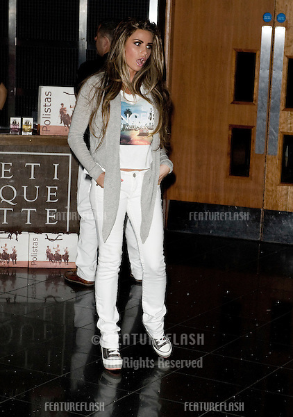 Katie Price attending the The Gaucho International Polo Tournament, O2 Arena. 21/03/2012 Picture by: Simon Burchell /Featureflash.