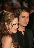 "20 September 2016 - Los Angeles, CA - Angelina Jolie Pitt has filed for divorce from Brad Pitt. Jolie Pitt, 41, filed legal docs Monday citing irreconcilable differences. Jolie Pitt requested physical custody of the couple's shared six children – Maddox, Pax, Zahara, Shiloh, Vivienne, and Knox – asking for Pitt to be granted visitation, citing legal documents. File Photo: 5 June 2007 - Hollywood, California - Angelina Jolie and Brad Pitt. ""Ocean's Thirteen"" Los Angeles Premiere at Grauman's Chinese Theatre. Photo Credit: Byron Purvis/AdMedia"