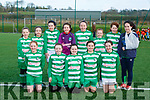 The Killarney Celtic team that played in the u12 schoolgirls blitz in Celtic Park on Saturday Leah McMahon, Laura Power, Emma O'Brien, Katie Doe, Lucy O'Sullivan, Back row l-r: Shauna Myers, Abbie Finnan, andrea Murphy, Aoibhín Kelly, Ella Mai Nugent, Fiana Bradley, Grainne Kennedy, Ava O'Malley
