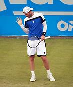 June 12th 2017,  Nottingham, England; WTA Aegon Nottingham Open Tennis Tournament day 3; Ukranian no8 seed Illya Marchenko strikes a pose at the Aegon Open in Nottingham