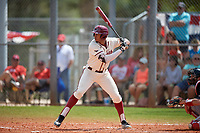 Saint Joseph's Hawks pinch hitter Langston Livingston (26) bats during a game against the Ball State Cardinals on March 9, 2019 at North Charlotte Regional Park in Port Charlotte, Florida.  Ball State defeated Saint Joseph's 7-5.  (Mike Janes/Four Seam Images)