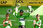 Peter Sagan (SVK) Bora-Hansgrohe retains the points Green Jersey at the end of Stage 17 of the 2019 Tour de France running 200km from Pont du Gard to Gap, France. 24th July 2019.<br /> Picture: ASO/Alex Broadway | Cyclefile<br /> All photos usage must carry mandatory copyright credit (© Cyclefile | ASO/Alex Broadway)