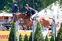 NZL-Andrew Nicholson rides Teseo during the Showjumping for the CCI4* - Presented by DHL, at the 2017 Luhmühlen International Horse Trial. Sunday 18 June. Copyright Photo: Libby Law Photography