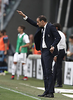 Calcio, Serie A: Juventus - Lazio, Torino, Allianz Stadium, 25 agosto, 2018.<br /> Juventus' coach Massimiliano Allegri gestures during the Italian Serie A football match between Juventus and Lazio at Torino's Allianz stadium, August 25, 2018.<br /> UPDATE IMAGES PRESS/Isabella Bonotto