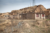 Building ruins in a remote village in China