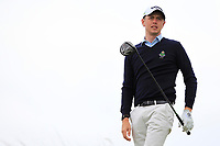 Shaun Carter (Royal Dublin) on the 16th tee during Round 2 of The East of Ireland Amateur Open Championship in Co. Louth Golf Club, Baltray on Sunday 2nd June 2019.<br /> <br /> Picture:  Thos Caffrey / www.golffile.ie<br /> <br /> All photos usage must carry mandatory copyright credit (© Golffile   Thos Caffrey)