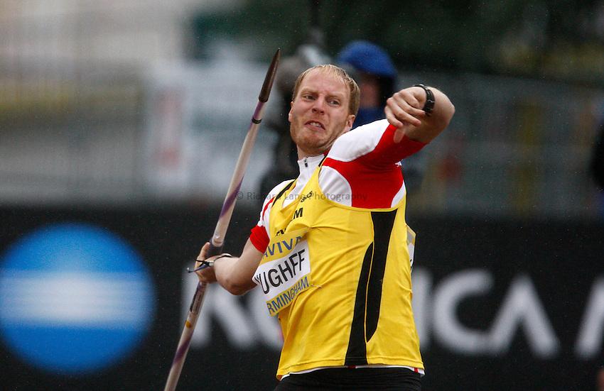 Photo: Richard Lane/Richard Lane Photography..Aviva World Trials & UK Championships athletics. 11/07/2009. Chris Hughff in the men's javelin.