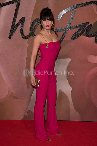 Daisy Lowe <br /> The Fashion Awards 2016 , arrivals at the Royal Albert Hall, London, England on December 05 2016.<br /> CAP/PL<br /> ©Phil Loftus/Capital Pictures /MediaPunch ***NORTH AND SOUTH AMERICAS ONLY***