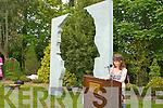the unvveiling of the John B. Keane monument in the garden of Europe Listowel on Sunday.