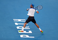 Match 2  Australia v Spain -Mens Singles-Australia's  Nick Kyrios beats Feliciano Lopez from Spain in Straight Sets  at the Hopman Cup Perth  West Australia  on January 1st  2017