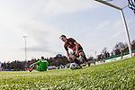 V&auml;llingby 2014-03-30 Fotboll Allsvenskan IF Brommapojkarna - Kalmar FF :  <br /> Brommapojkarnas Dardan Rexhepi h&auml;mtar bollen i m&aring;let efter att Brommapojkarnas Gabriel Petrovic reducerat till 1-2<br /> (Foto: Kenta J&ouml;nsson) Nyckelord:  BP Brommapojkarna Grimsta Kalmar KFF