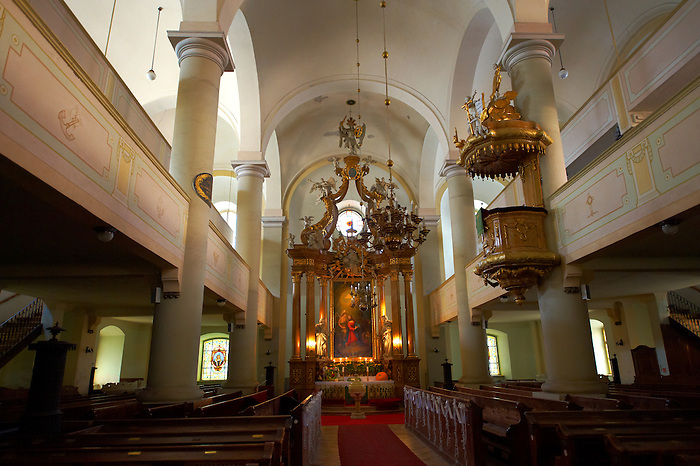 Interior of the Neo Classic Lutheran Church (Evangélikus templon)- Sopron, Hungary