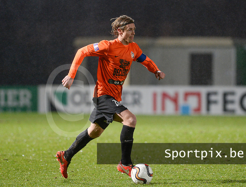 20160220 - ROESELARE, BELGIUM: Deinze's Hans Cornelis pictured during the Proximus League match between KSV Roeselare and KMSK Deinze , in Roeselare on Saturday 20 February 2016 , on the 26th matchday of the Belgian second division soccer championship. PHOTO DAVID CATRY