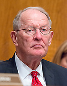 United States Senator Lamar Alexander (Republican of Tennessee) Chairman, US Senate Committee on Health, Education, Labor, and Pensions, listens as Patrick Pizzella testifies on his nomination as Deputy US Secretary of Labor; and Marvin Kaplan and William Emanuel testify on their nominations as Members of the National Labor Relations Board before the  committee on Capitol Hill in Washington, DC on Thursday, July 13, 2007<br /> Credit: Ron Sachs / CNP